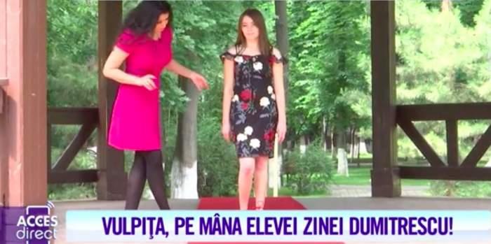 VIDEO / Vulpiţa, pregătită să fie regina podiumurilor! Așa arată Veronica Stegaru în pantofii unui fotomodel