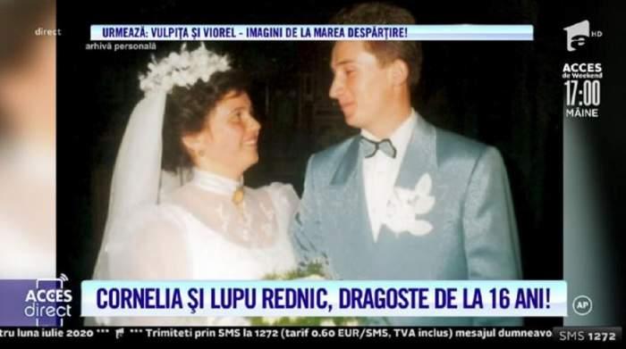 Cum s-au cunoscut Cornelia și Lupu Rednic! S-au căsătorit când artista avea doar 16 ani! Imagini de colecție de la nuntă! / VIDEO