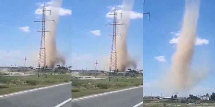 Tornadă de nisip în Tulcea! Fenomenul extrem care a șocat pe toată lumea! / VIDEO