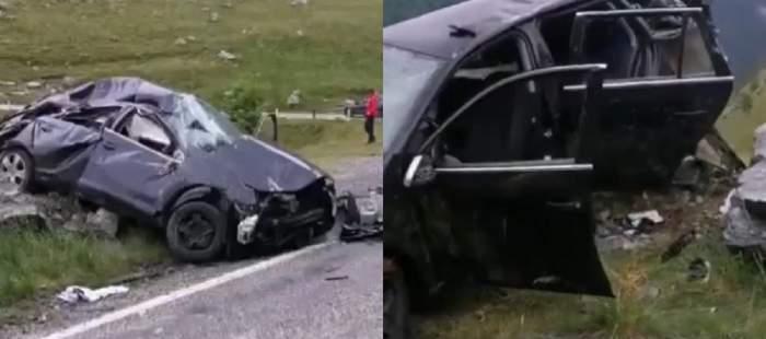 Imagini de la tragicul accident de pe Transfăgărășan! Un tânăr a murit, iar alți doi au fost grav răniți! / FOTO