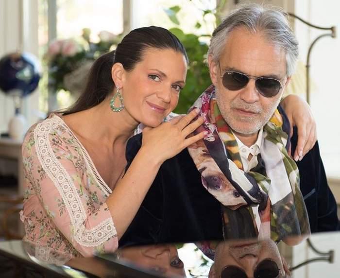 Cât de frumoasă este soția lui Andrea Bocelli! Cum arată Veronica Berti în costum de baie, la 36 de ani / FOTO