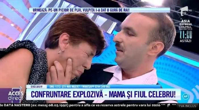 """Nicușor Micșoniu și mama lui, în lacrimi, la """"Acces Direct"""". Femeia își imploră fiul să o ierte: """"Nu mă părăsi, te rog"""" / VIDEO"""