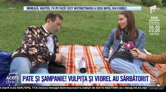 Vulpița i-a pregătit un picnic lui Viorel, în vârf de munte! Soții Stegaru au băut șampanie și au ciocnit în numele iubirii / VIDEO