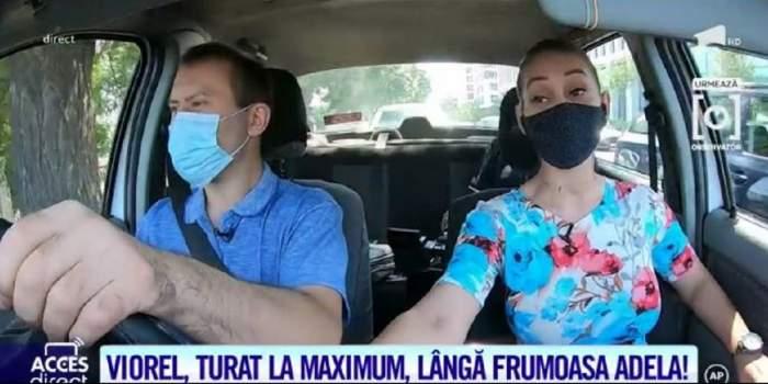 """Viorel, prima dată la volan, în trafic! Cum s-a descurcat soțul Vulpiței: """"Mi s-a părut greu să schimbi vitezele"""" / VIDEO"""