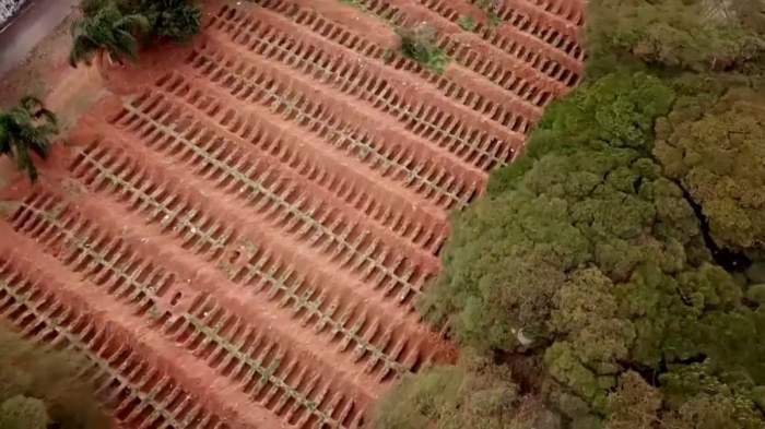 Imagini cutremurătoare cu sute de morminte ale morților de Covid-19 din Brazilia! Numărul de infectări a depășit 2 milioane / FOTO