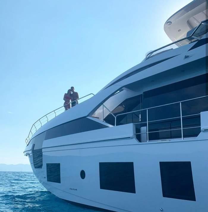 Cum arată interiorul yacht-ului de lux al lui Cristiano Ronaldo. Iubita lui a publicat imagini în premieră