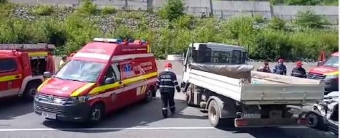 Accident devastator în Cluj. Un bărbat a murit, după ce șoferul unei autoutilitare a pătruns pe contrasens / VIDEO