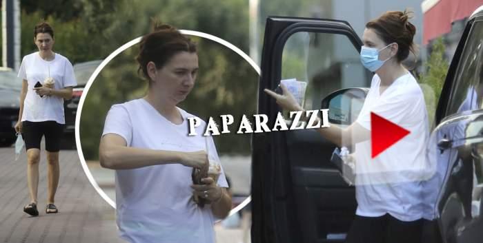 Fiica lui Victor Pițurcă nu ține cont de nimic! Claudia a ieșit din casă cu ce a găsit la îndemână, dar masca de protecție nu a fost uitată! / VIDEO PAPARAZZI