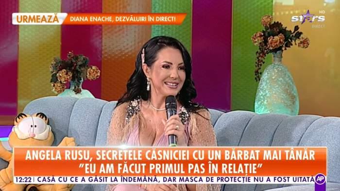 """Angela Rusu, secretul căsniciei cu soțul său mai tânăr! """"Am făcut primul pas. M-a refuzat de trei ori"""""""