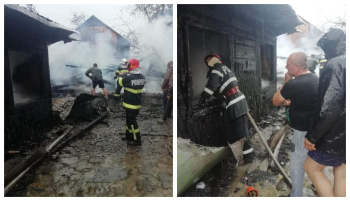 Descoperire macabră în Suceava! Două femei au fost găsite carbonizate, după ce casa în care locuiau a luat foc/ FOTO