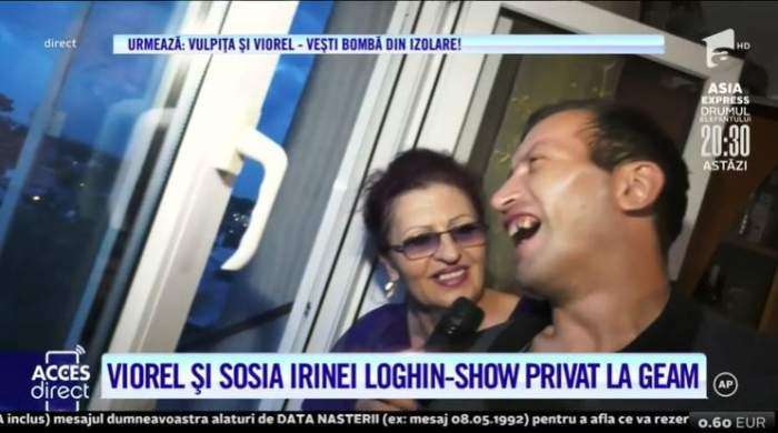 Viorel și sosia Irinei Loghin, show privat de la geam! Soțul Vulpiței a luat lecții de canto de la artistă / VIDEO