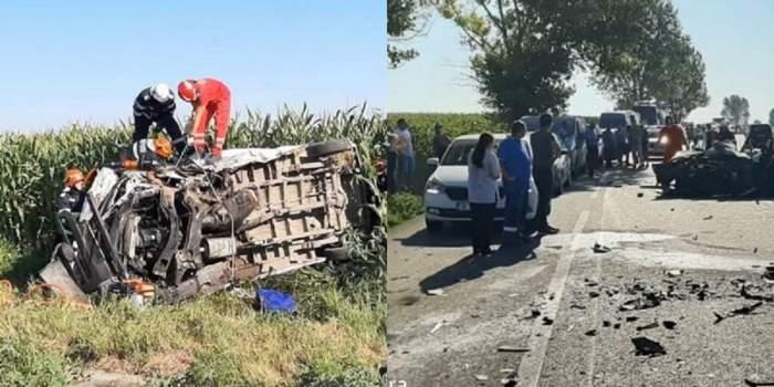 Tragedie pe o șosea din Iași! Un mort și trei răniți, după ce o șoferiță a intrat cu mașina pe contrasens! / FOTO