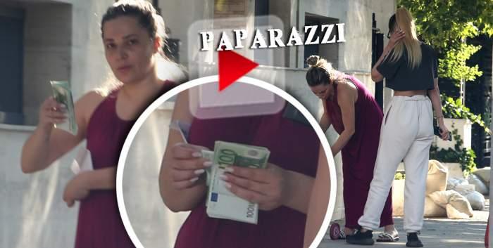 Viviana Rădoi nu ține cont de nimic când vine vorba de bani! Soția celebrului fotbalist numără miile de euro în fața... casei / PAPARAZZI