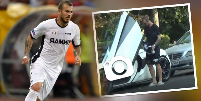 Pentru Denis Alibec mașina e mai importantă ca legea! Ce a făcut fotbalistul, imediat după ce a ieșit din piscină!  / VIDEO PAPARAZZI