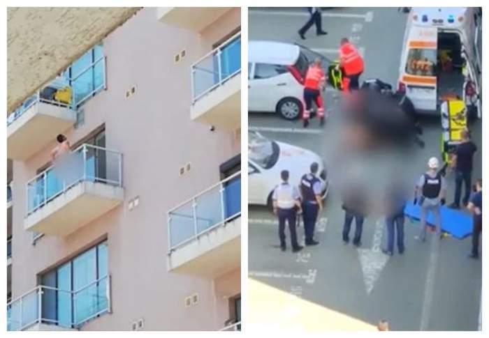 Bărbatul dezbrăcat din București care s-a aruncat în gol de la etajul șase al unui bloc a murit!