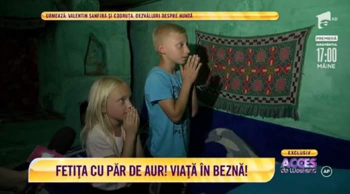 Drama frățiorilor cu păr de aur! Abandonați de mamă la 2 ani, cei doi își trăiesc viața în beznă! / VIDEO
