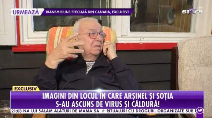 Alexandru Arșinel își îngrijește soția bolnavă la munte! Cum se simte partenera de viață a actorului! / VIDEO