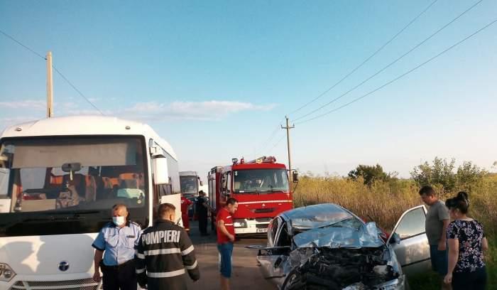 Accident grav în Ialomița! Un tânăr de 20 de ani a murit, după ce s-a izbit puternic de un autocar, luni dimineața