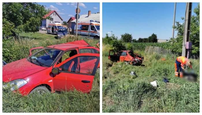 Accident tragic pe calea ferată, în Bacău! Trei oameni au murit iar alți doi au fost răniți, după ce mașina le-a fost spulberată de un tren