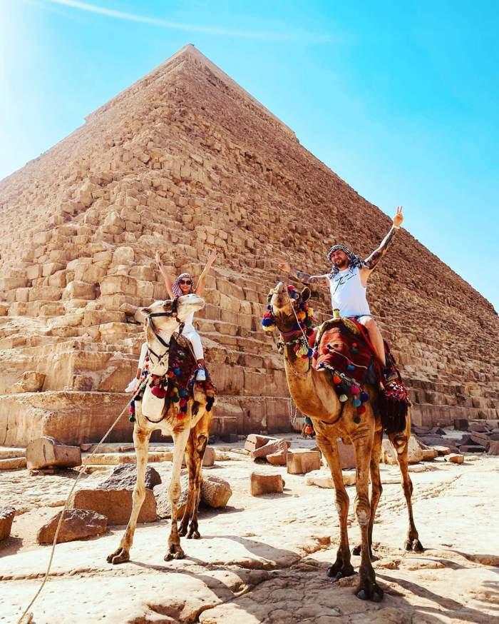 """Ana Maria Mocanu, vacanță de vis alături de iubit. """"Porumbeii"""" se răsfață pe nisipul auriu din Egipt /FOTO"""