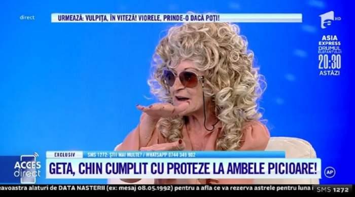 Tanti Geta, escrocată și rămasă pe străzi? Susține că i-a fost furat căruciorul cu rotile fără care nu se poate deplasa! / VIDEO