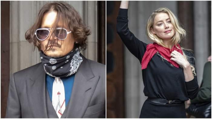 Johnny Depp și Amber Heard s-au reunit în instanță