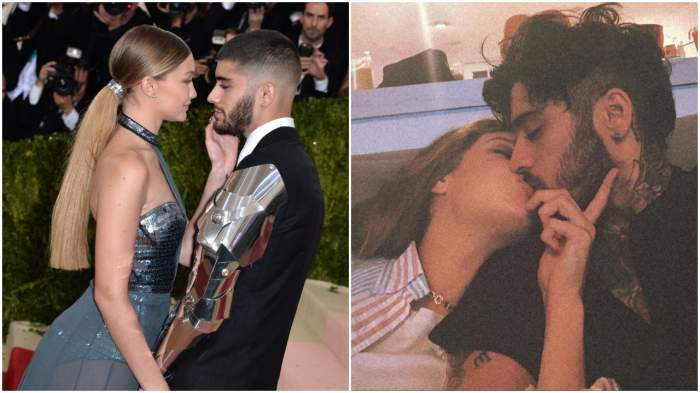 Gigi Hadid și Zayn Malik, sărut pătimaș în fața tuturor