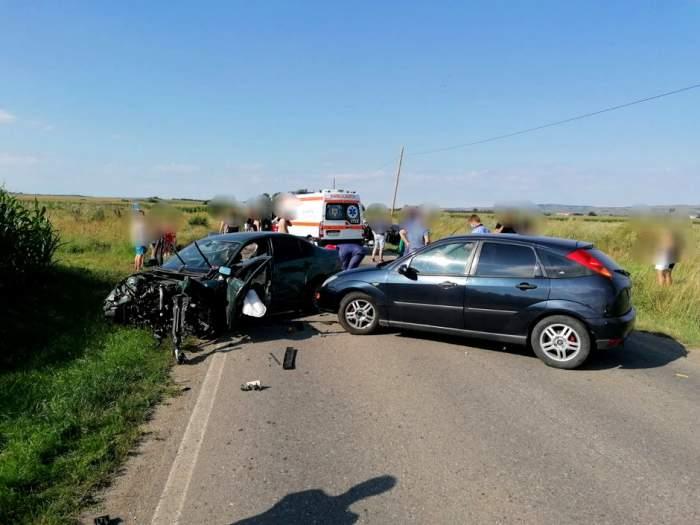 Accident grav la Sibiu! Trei mașini implicate, cinci victime, o femeie în comă/ FOTO