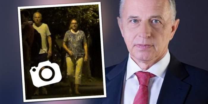"""Mircea Geoană și """"Mihaela, dragostea mea"""", plimbare nocturnă la lumina felinarelor! Cum au fost surprinși politicianul și partenera sa de viață / PAPARAZZI"""