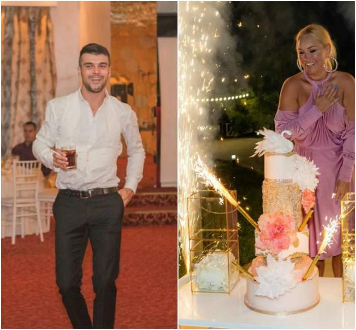 Vica Blochina și Marius Elisei, show de zile mari, pe mese. Cei doi au încins atmosfera la petrecerea aniversară a blondinei / VIDEO