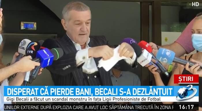 """Gigi Becali, disperat că echipele din Liga 1 nu primesc banii din drepturile TV. S-a înfuriat și a rupt actul adițional. """"Nu accept să fiu luat de prost"""""""