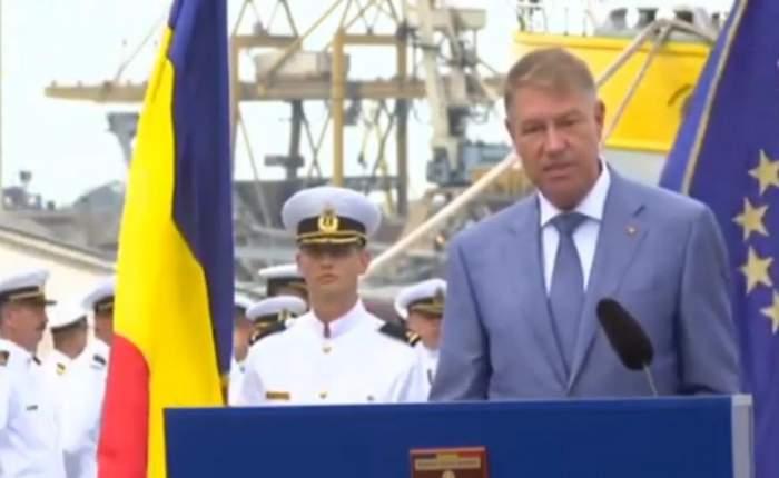 """Klaus Iohannis, discurs de Ziua Marinei adaptat pandemiei. """"Regiunea Mării Negre trebuie să fie un spațiu sigur și predictibil. Obiectivele noastre rămân neschimbate"""""""