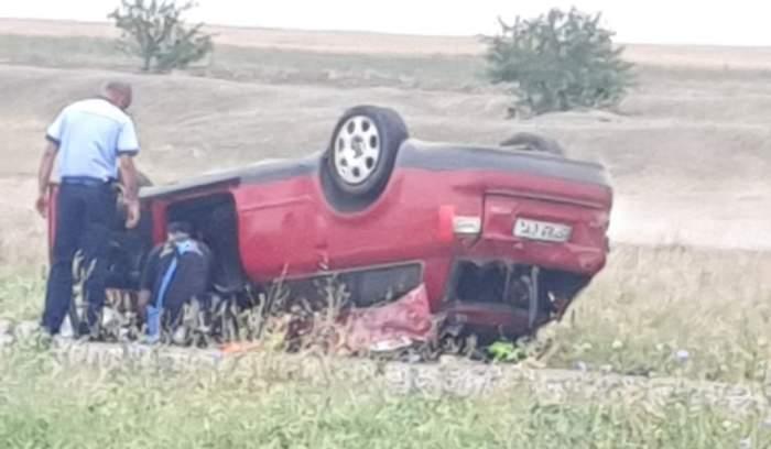 Accident teribil în Ialomița! Un bărbat și o fetiță de doar 10 ani s-au stins din viață! Alte trei victime au ajuns cu răni grave la spital! / FOTO