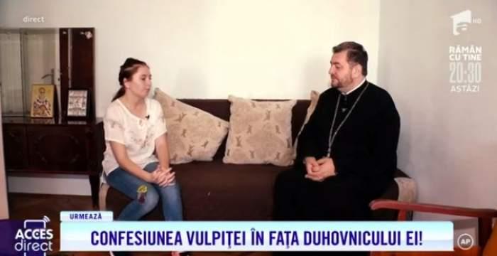 """Vulpița a chemat preotul acasă. Tânăra din Blăgești și-a recunoscut toate greșelile: """"Îmi pare rău"""" / VIDEO"""