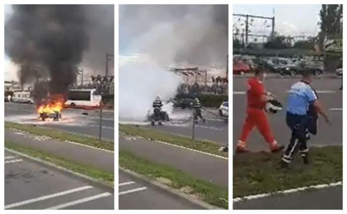 Polițist pe motocicletă, lovit de o șoferiță grăbită, în Buzău! În ce stare se află omul legii / VIDEO