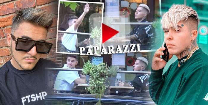 """Lino Golden l-a scos pe Mario Fresh la un... fresh! Ce au făcut  """"fiii adoptivi"""" ai lui Alex Velea la o terasă de fițe din București! / PAPARAZZI"""