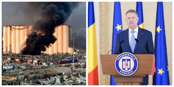 Președintele Klaus Iohannis, mesaj de condoleanțe pentru familiile victimelor exploziei din Beirut