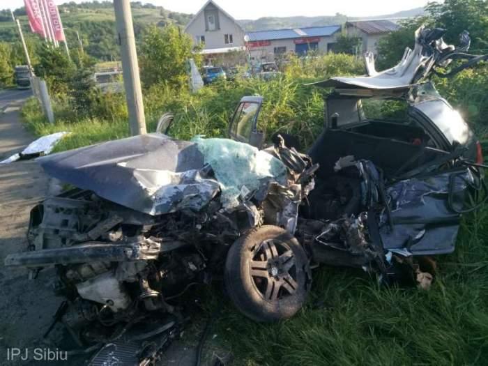 Tânăr de 24 de ani din Sibiu, mort într-un cumplit accident rutier! A pierdut controlul volanului