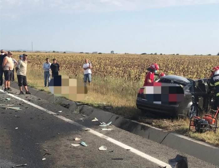 Accident tragic la Focșani. O femeie a murit pe loc după ce mașina sa a fost izbită de un camion / FOTO