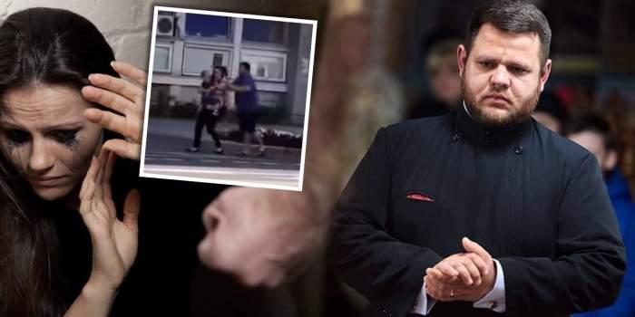 Preotul care a fost filmat în timp ce își bătea nevasta, scandal total cu poliția / Detalii exclusive