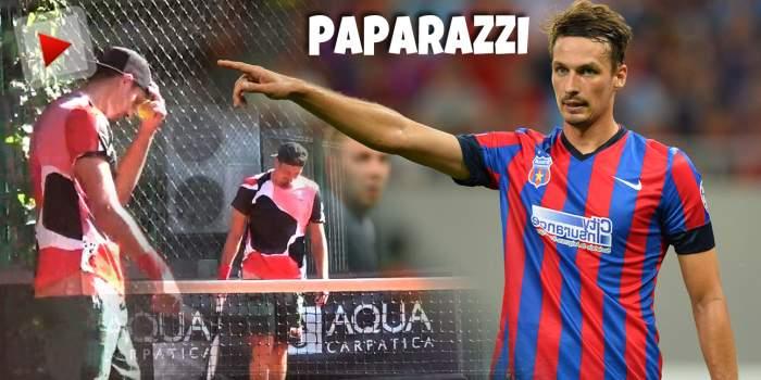 """Lukasz Szukala nu pierde doar pe terenul de fotbal, ci și pe cel de... tenis! Cine l-a """"bătut"""" pe fostul stelist / PAPARAZZI"""
