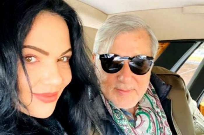 Ilie Năstase și soția lui, Ioana, într-un selfie. Cei doi se află în mașină și zâmbesc.
