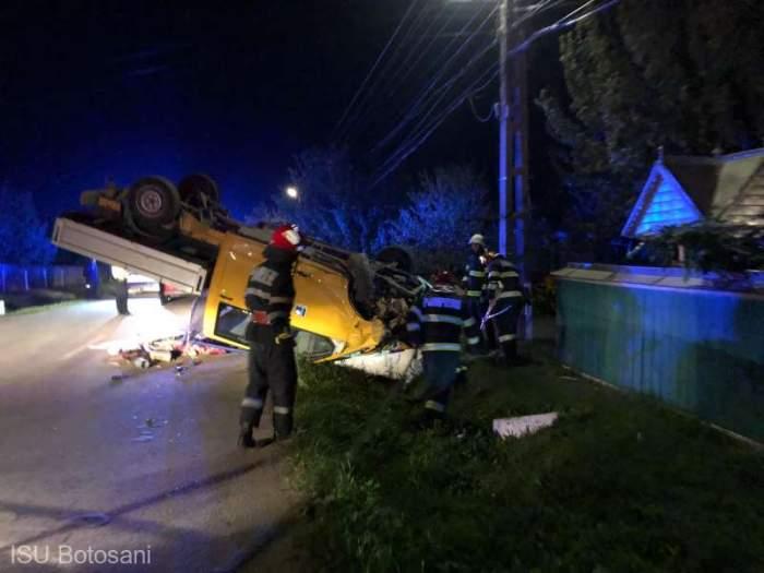 Accident teribil la Botoșani! Două persoane au murit, izbite de o autoutilitară. Șoferul consumase băuturi alcoolice