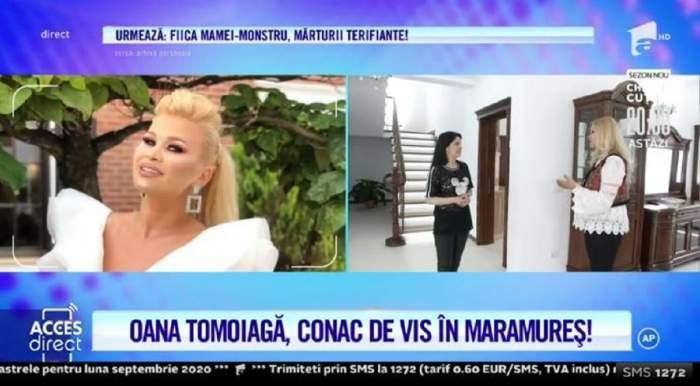 Oana Tomoiagă, prietena Vlăduței Lupău, a divorțat de soț! Artista locuiește acum împreună cu părinții și fiul ei într-un conac de vis, în Maramureș! / VIDEO