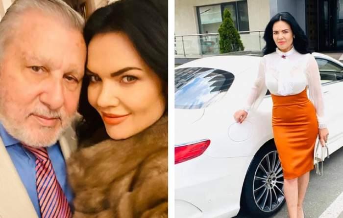 Ilie Năstase și Ioana Năstase foarte apropiați, Ioana Năstase pozând cu o mașină albă