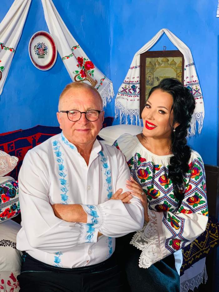 Angela Rusu și tatăl său.