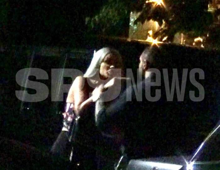 Bianca Drăgușanu și Alex Bodi se ceartă în fața unui restaurant din București