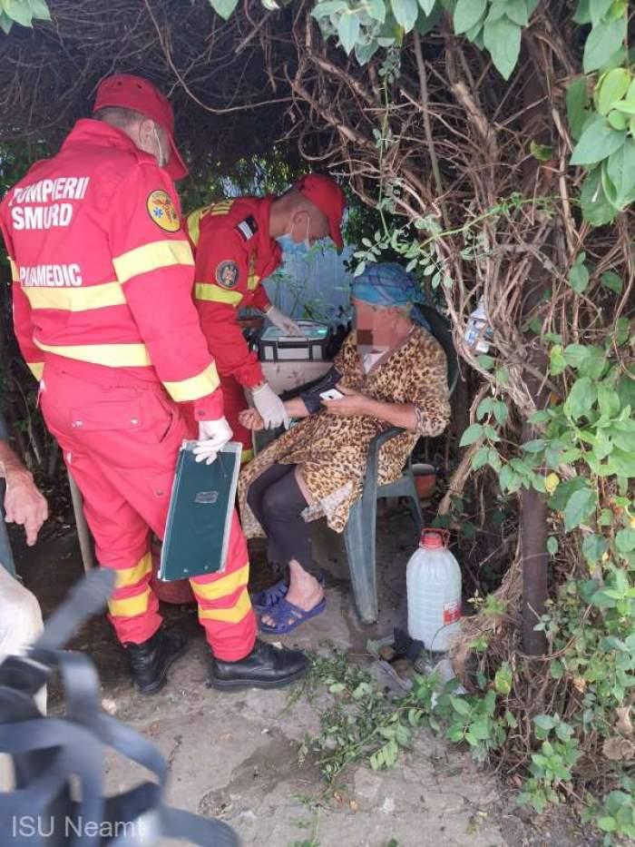 Bătrâni din Piatra-Neamț, răniți într-un incendiu, în propria locuință! De la ce au izbucnit flăcările
