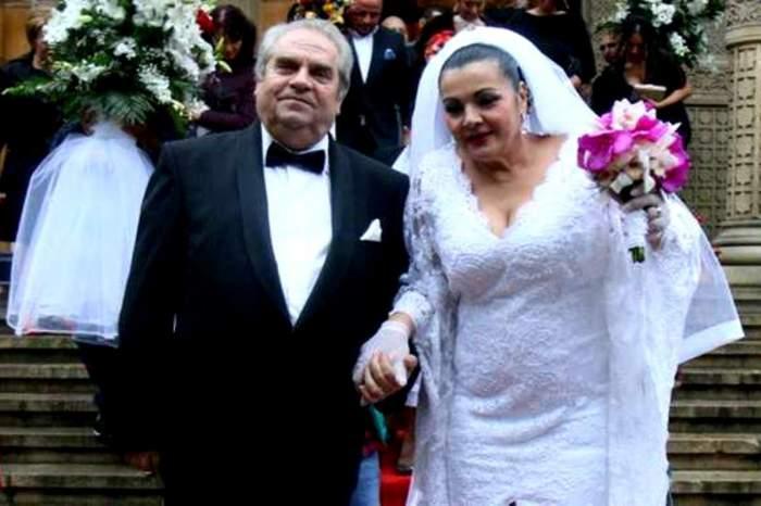 Cornelia Catanga și Aurel Pădureanu în ziua nunții lor, în 2014