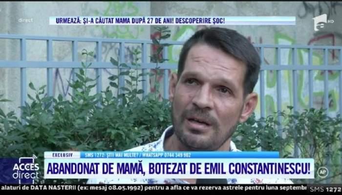 """Acces Direct. Ioan a fost abandonat de mamă și crescut în lagăr! Tânărul botezat de Emil Constantinescu, respins și acum de cea care i-a dat naștere: """"Mi-a trântit ușa în nas"""" / VIDEO"""